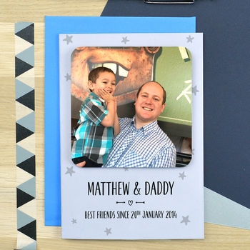 Best Friends Father's Day Coaster Card