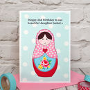 'Russian Doll' Personalised Girls Birthday Card