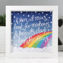 'Look For Rainbows' Illustrated Quote Print