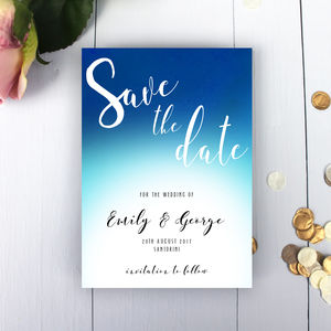 Coastal Wedding Save The Date Card - save the date cards