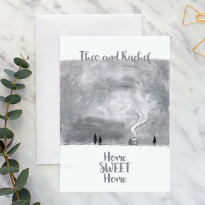 Personalised New Home Monotone A5 Card