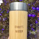 Personalised Reusable Sustainable Bamboo Water Bottle