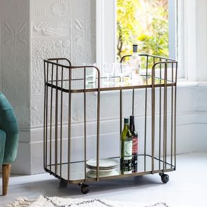 Bronzed Venice Drinks Trolley - 50th birthday gifts