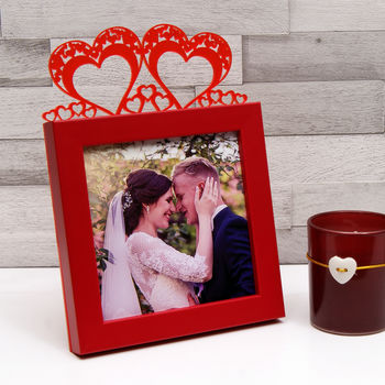 Newlyweds Frame in Red
