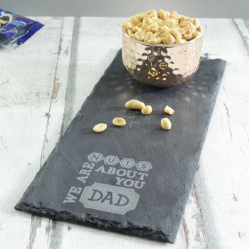 Dad Fathers Day Slate Platter With Copper Bowl