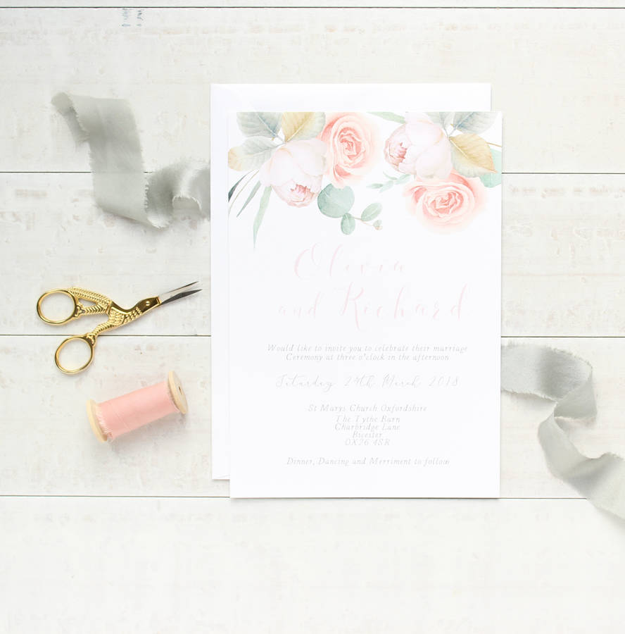 Dream Garden Wedding Stationery Invitation