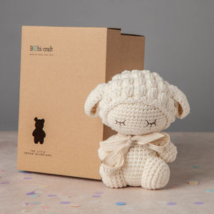 Personalised Barbra Lamb Soft Toy - christening gifts