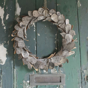 Decorative Birch Christmas Wreath - wreaths