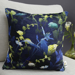 Forest Undergrowth Botanical Cushion