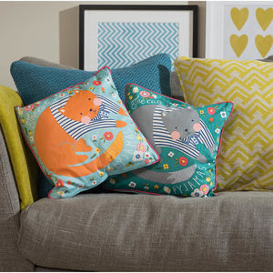 Cats Pyjamas Cushion - patterned cushions