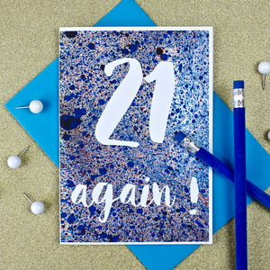 21 Again Birthday Card