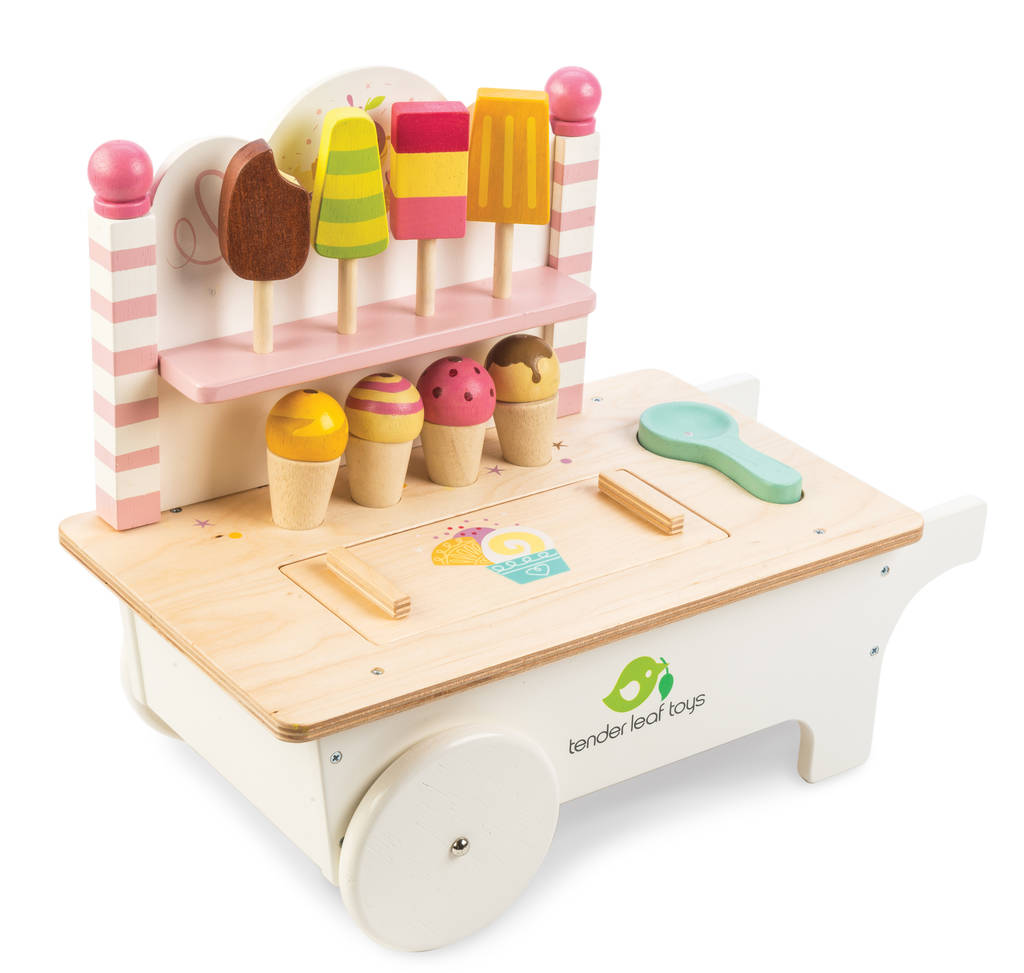 personalised wooden ice cream cart