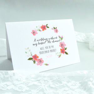 'Will You Be My Bridesmaid?' Bestie Card