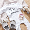 Personalised Newborn Sleepsuit