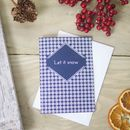 Let It Snow Snowflake Emoji Christmas Card, Xmas Card