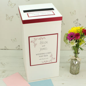 Personalised Emily Wedding Post Box