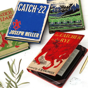 Classic Book Cover Kindle Case In Various Designs - book-lover