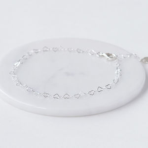 Personalised Silver Heart Anklet