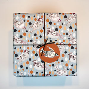 Lauscha Bird Christmas Wrapping Paper - wrapping