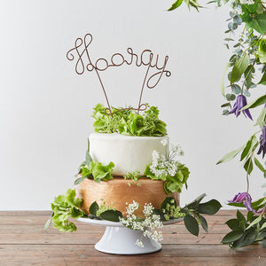 Hooray Wire Wedding Cake Topper - kitchen accessories