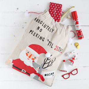Personalised Christmas Santa Sack - winter sale
