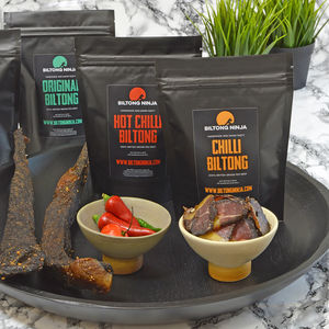 Handcrafted Biltong Three X 50g Bags Of Mixed Flavours - lust list