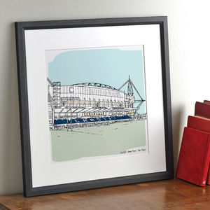 Personalised Sports Stadium Illustration