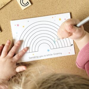 Send A Smile Colour In Rainbow Personalised Card