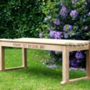 Backless Wooden Bench