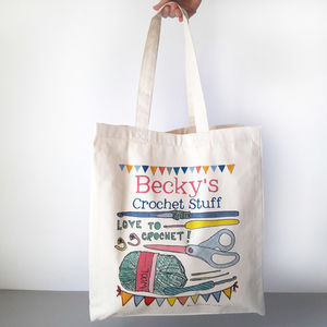 Personalised Crochet Bag - sewing & knitting