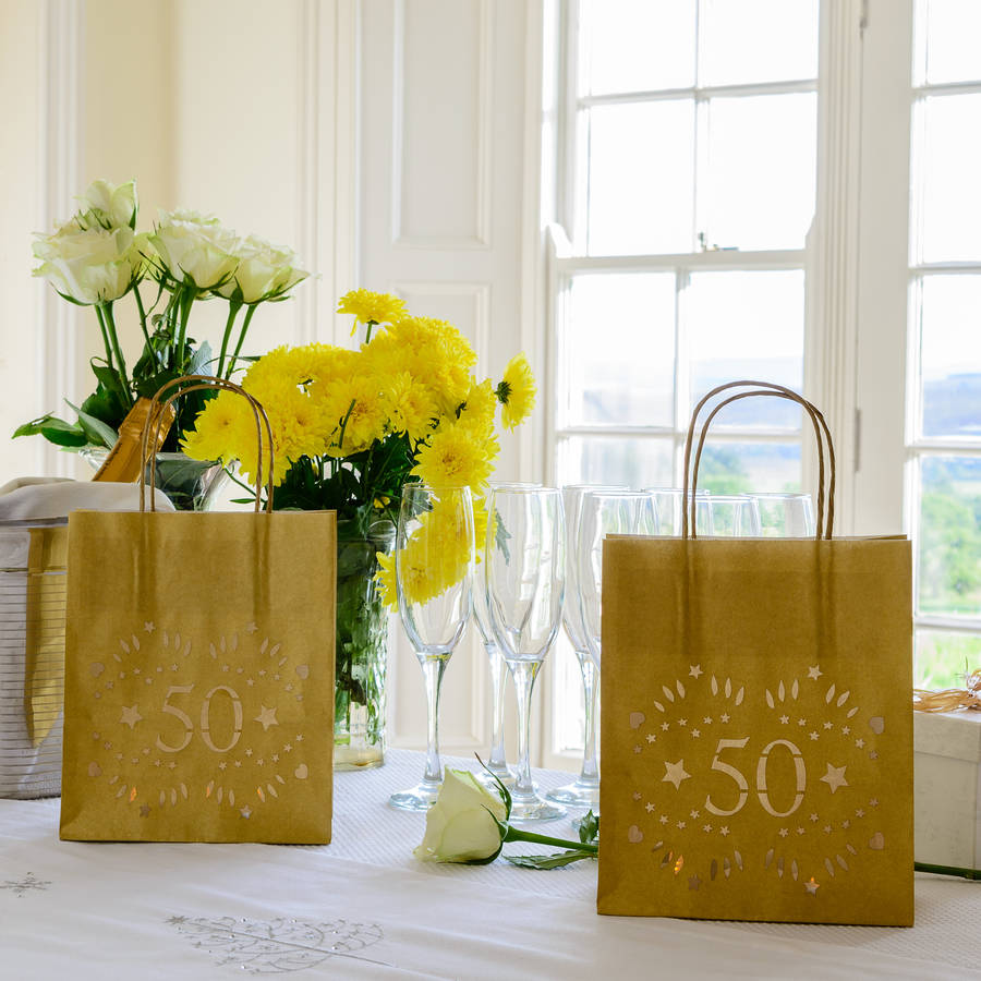 50th birthday decoration party lantern bags by baloolah bunting