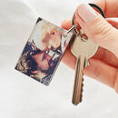 Personalised Wood And Acrylic Photo Keyring