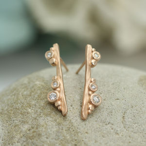 Flint Bar Earrings - diamonds