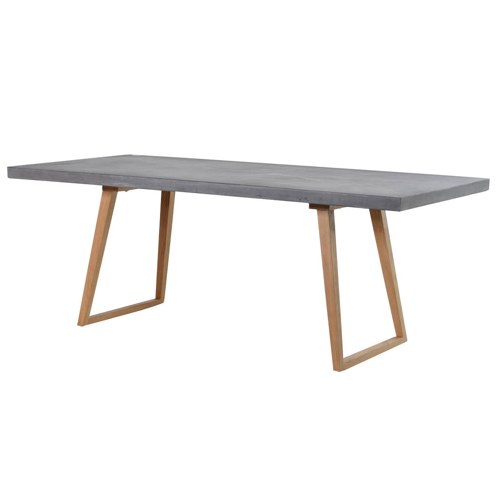 Concrete Top Dining Table By Out There Interiors - Extendable concrete dining table