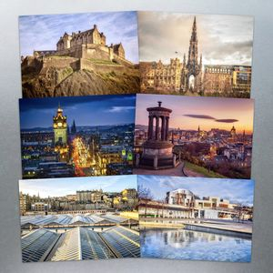 Six Edinburgh Postcards