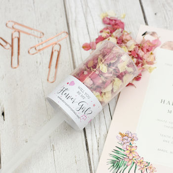 Will You Be My Flower Girl Confetti Pop, Proposal