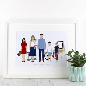 Personalised Family Portrait - top 50 personalised art prints