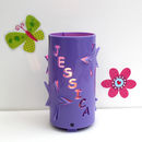 Purple Personalised Star Night Light