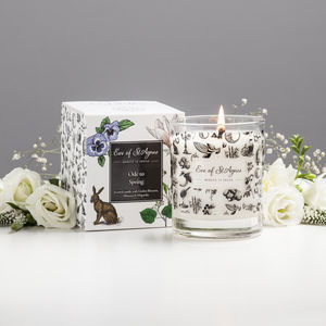 Natural Scented Candle Ode To Spring - dining room