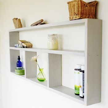 Wall Mounted Painted Shelving