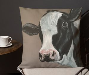 Matilda Moo, Faux Suede Cow Cushion
