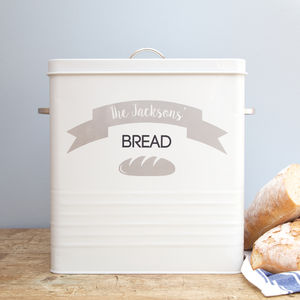 Personalised Airtight Bread Bin
