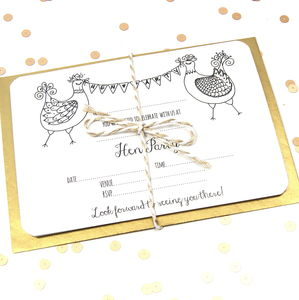 Hen Party Invitations Five Pack - hen & stag party invitations
