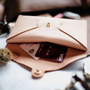 Personalised Blush Pink Leather Origami Purse