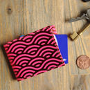 Recycled Leather Wave Oyster Card Holder