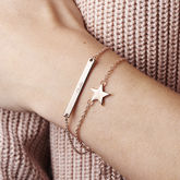 Personalised Skinny Star And Bar Bracelet Set - anniversary gifts