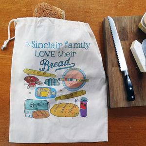 Personalised Bread Storage Bag - what's new