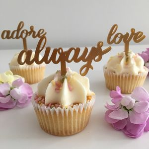 Wedding Engagement Cupcake Toppers - baking