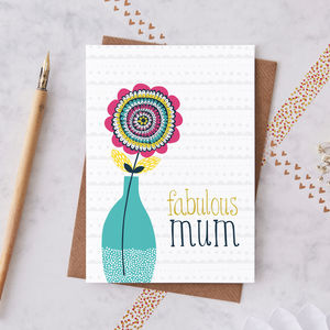 Mum Greetings Card - winter sale