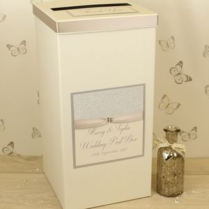 Personalised Luxury Wedding Post Box
